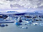 Glaciers floating on arctic waters Stock Photo - Premium Royalty-Free, Artist: UpperCut Images, Code: 635-05972210