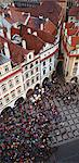 Aerial view of crowd in town square Stock Photo - Premium Royalty-Free, Artist: Blend Images, Code: 635-05972237