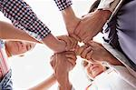 Group of hands clasped in prayer Stock Photo - Premium Royalty-Freenull, Code: 635-05972458