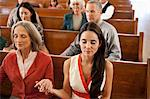 Congregation holding hands in prayer Stock Photo - Premium Royalty-Free, Artist: Blend Images, Code: 635-05972474