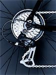 Close up of bicycle gears and chain Stock Photo - Premium Royalty-Free, Artist: Arcaid, Code: 635-05972684