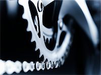 Close up of bicycle chain and gears Stock Photo - Premium Royalty-Freenull, Code: 635-05972693