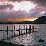Wooden pier in rocky lake Stock Photo - Premium Royalty-Free, Artist: AWL Images, Code: 635-05972720