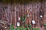 Garden Tools Hanging on Wall Stock Photo - Premium Rights-Managed, Artist: Bettina Salomon, Code: 700-05973447