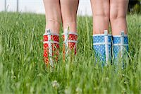 Close-Up of Girls Wearing Rubber Boots Stock Photo - Premium Rights-Managednull, Code: 700-05973515