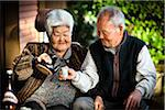 Elderly Couple Drinking Tea, Isen, Tokunoshima Island, Kagoshima Prefecture, Japan Stock Photo - Premium Rights-Managed, Artist: R. Ian Lloyd, Code: 700-05973994