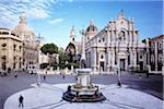 Duomo square, Sant'Agata Cathedral and Water Fountain, Catania, Sicily, Italy Stock Photo - Premium Rights-Managed, Artist: Siephoto, Code: 700-05974006
