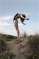 Dancer on Sand Dune Stock Photo - Premium Rights-Managednull, Code: 700-05974022
