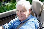 A cheerful senior man driving a convertible sports car Stock Photo - Premium Royalty-Free, Artist: Cultura RM, Code: 653-05975934