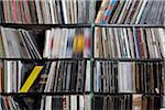 Rows of records on shelves Stock Photo - Premium Royalty-Free, Artist: Tyler Durden, Code: 653-05976267