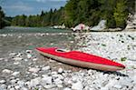 A kayak on a rocky beach Stock Photo - Premium Royalty-Free, Artist: Aurora Photos            , Code: 653-05976777