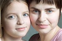 Mother and daughter portrait Stock Photo - Premium Royalty-Freenull, Code: 653-05976856