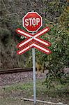 Railway stop sign, Kwazulu Natal Province, South Africa Stock Photo - Premium Royalty-Free, Artist: AWL Images, Code: 682-05977031