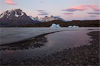 View over Lago Grey of Cuernos del Paine, Torres del Paine National Park, Patagonia, Chile Stock Photo - Premium Royalty-Freenull, Code: 682-05977096