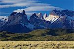 View of the Cuernos del Paine, Parque Nacional Torres del Paine, Patagonia, Chile, South America Stock Photo - Premium Royalty-Free, Artist: Frank Krahmer, Code: 682-05977101