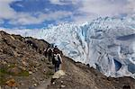 Tourist approach Perito Moreno Glacier to day trek on the glacier, Glaciers National Park, El Calafate, Patagonia, Argentina, South America Stock Photo - Premium Royalty-Free, Artist: Cultura RM, Code: 682-05977103