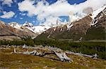 View of the Fitz Roy mountain range, Glaciers National Park, El Chalten, Patagonia, Argentina Stock Photo - Premium Royalty-Free, Artist: Robert Harding Images, Code: 682-05977142