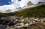 View from within the Frances Valley of the Cuernos del Paine, Torres del Paine National Park, Patagonia, Chile Stock Photo - Premium Royalty-Free, Artist: Frank Krahmer, Code: 682-05977146