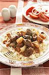 Traditional Karoo cooking. Venison stew served with rice Stock Photo - Premium Royalty-Free, Artist: Cultura RM, Code: 682-05977581