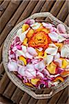 Basket of flower petals at a spa in Mexico. Stock Photo - Premium Royalty-Free, Artist: Jon Arnold Images, Code: 6106-05978383