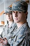Two American soldiers in army combat uniform Stock Photo - Premium Rights-Managed, Artist: Kablonk! RM, Code: 842-05979316