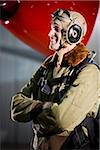 American pilot with vintage airplane Stock Photo - Premium Rights-Managed, Artist: Kablonk! RM, Code: 842-05979363