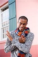 Handsome stylish young African-American man Stock Photo - Premium Rights-Managednull, Code: 842-05979783