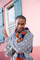Handsome stylish young African-American man Stock Photo - Premium Rights-Managednull, Code: 842-05979784