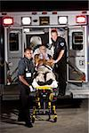 Paramedics caring for elderly patient in ambulance Stock Photo - Premium Rights-Managed, Artist: Kablonk! RM, Code: 842-05979859