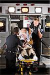 Paramedics caring for elderly patient in ambulance Stock Photo - Premium Rights-Managed, Artist: Kablonk! RM, Code: 842-05979860