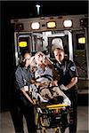 Paramedics caring for elderly patient in ambulance Stock Photo - Premium Rights-Managed, Artist: Kablonk! RM, Code: 842-05979862