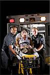 Paramedics caring for elderly patient in ambulance Stock Photo - Premium Rights-Managed, Artist: Kablonk! RM, Code: 842-05979863