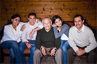Portrait of three generations Hispanic family Stock Photo - Premium Rights-Managednull, Code: 842-05979922