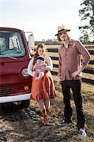 Portrait of farmer with family Stock Photo - Premium Rights-Managednull, Code: 842-05979965
