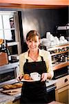 Waitress with customer order serving breakfast Stock Photo - Premium Rights-Managed, Artist: Kablonk! RM, Code: 842-05980063