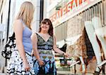 Woman with down syndrome and her personal assistant window shopping together Stock Photo - Premium Royalty-Free, Artist: CulturaRM, Code: 698-05980153