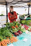 Fresh produce for sale at farmers market Stock Photo - Premium Rights-Managed, Artist: Kablonk! RM, Code: 842-05980115