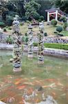 Delicate sculptures in the middle of the pond at the garden of Danfu Yard, a cultural relic at Chaozhou, China Stock Photo - Premium Rights-Managed, Artist: Oriental Touch, Code: 855-05982139