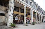 Qilou buildings in historic town of Chika, Kaiping, Guangdong Province, China Stock Photo - Premium Rights-Managed, Artist: Oriental Touch, Code: 855-05982924