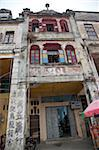 Qilou buildings in historic town of Chika, Kaiping, Guangdong Province, China