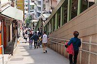 Central escalator, Central, Hong Kong Stock Photo - Premium Rights-Managednull, Code: 855-05983197
