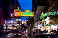 Nathan Road at night, Tsimshatsui, Kowloon, Hong Kong Stock Photo - Premium Rights-Managednull, Code: 855-05984394