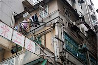 Old residential buildings at Tai Kok Tsui, Kowloon, Hong Kong Stock Photo - Premium Rights-Managednull, Code: 855-05984441