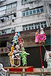 Characters displayed on the parade cart at the temple festival, Tai Kok Tsui, Hong Kong Stock Photo - Premium Rights-Managed, Artist: Oriental Touch, Code: 855-05984447