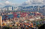 Overlooking Victoria Harbour and cargo terminal, Kwai Chung, Hong Kong Stock Photo - Premium Rights-Managed, Artist: Oriental Touch, Code: 855-05984668