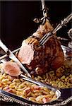 leg of lamb and flageolet beans Stock Photo - Premium Rights-Managed, Artist: Photocuisine, Code: 825-05985036