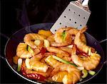 pekinese sauteed prawns Stock Photo - Premium Rights-Managed, Artist: Photocuisine, Code: 825-05985078
