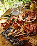 selection of grilled meats Stock Photo - Premium Rights-Managed, Artist: Photocuisine, Code: 825-05985093