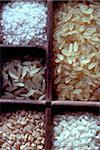 Selection of dry rice Stock Photo - Premium Rights-Managed, Artist: Photocuisine, Code: 825-05985322