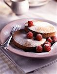 Raspberry biscuit dessert Stock Photo - Premium Rights-Managed, Artist: Photocuisine, Code: 825-05985343